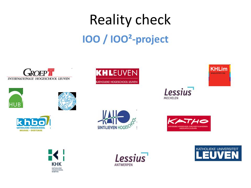 Reality check IOO / IOO²-project