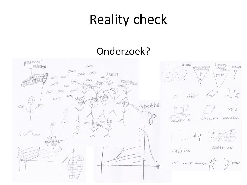 Reality check Onderzoek