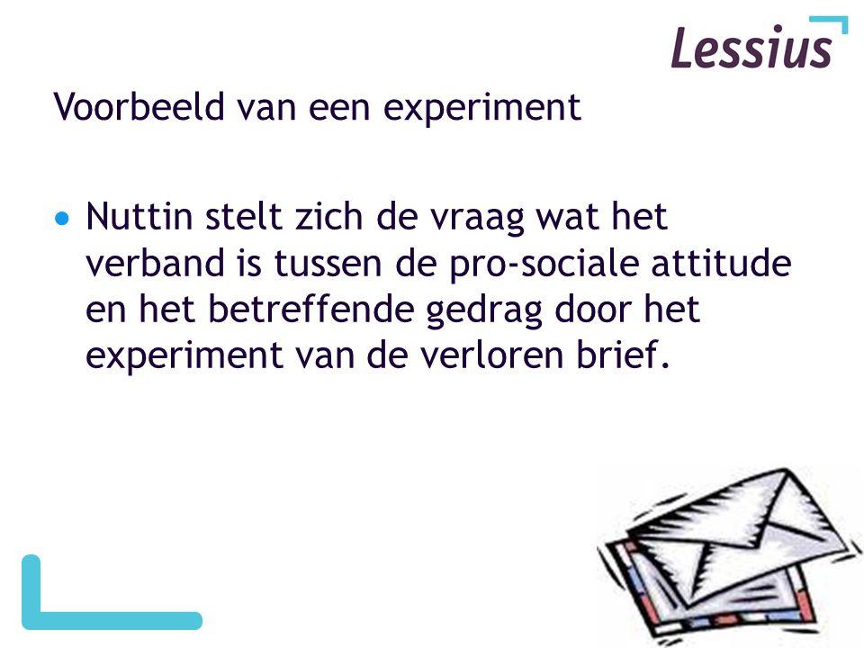 Voorbeeld van een experiment
