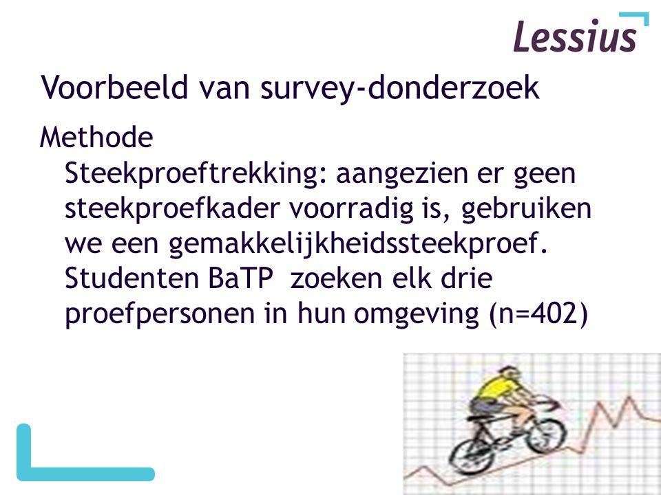 Voorbeeld van survey-donderzoek