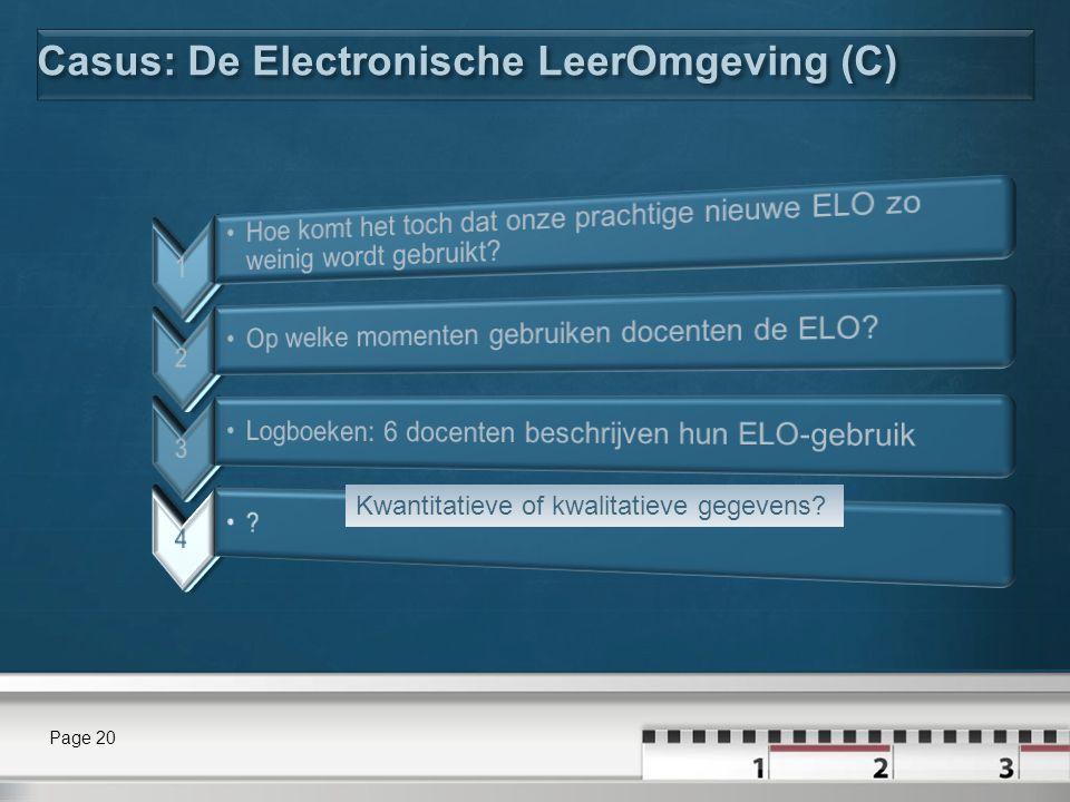 Casus: De Electronische LeerOmgeving (C)