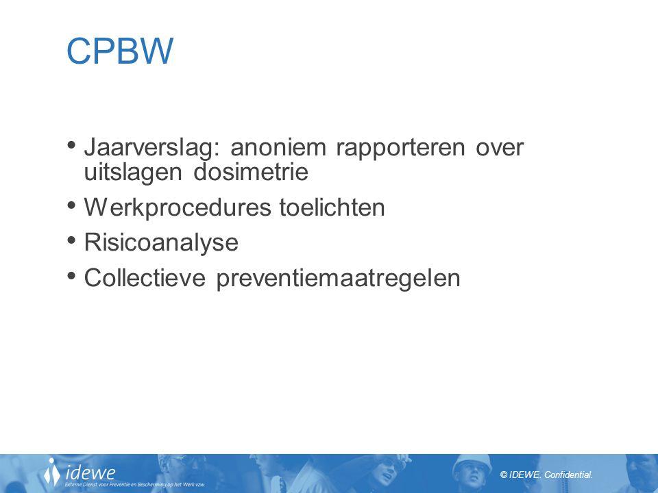 CPBW Jaarverslag: anoniem rapporteren over uitslagen dosimetrie