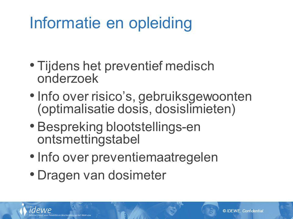 Informatie en opleiding