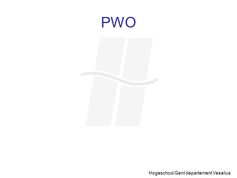 PWO Hogeschool Gent departement Vesalius