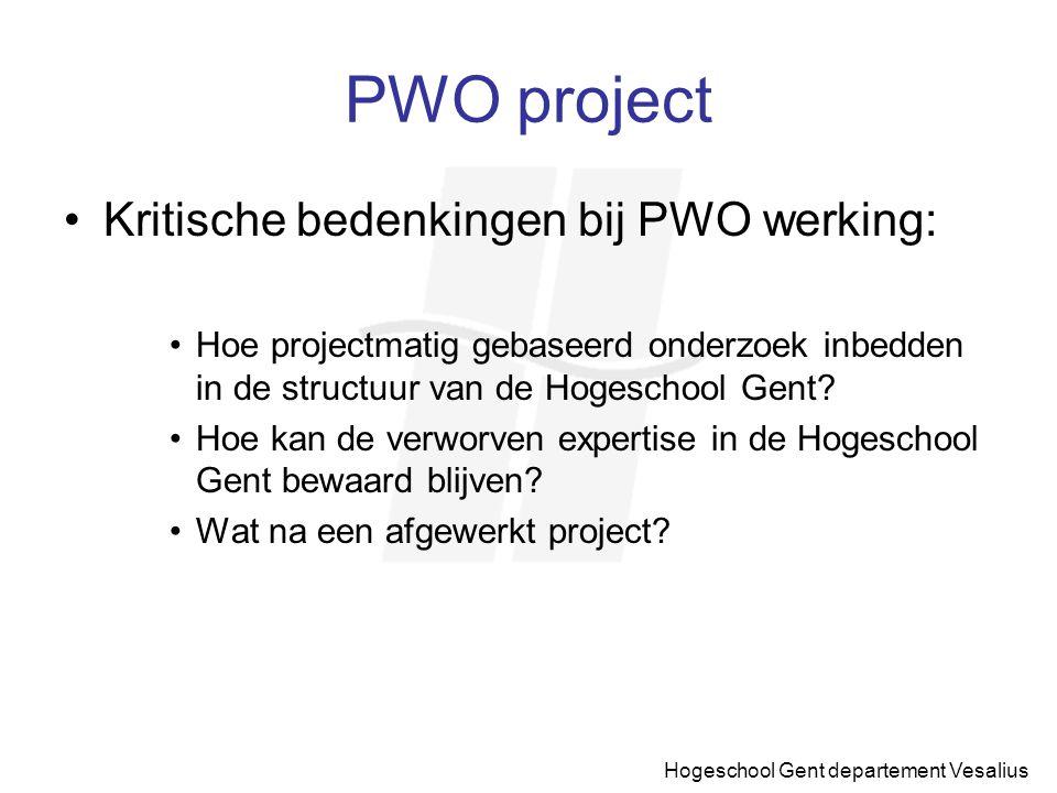 PWO project Kritische bedenkingen bij PWO werking: