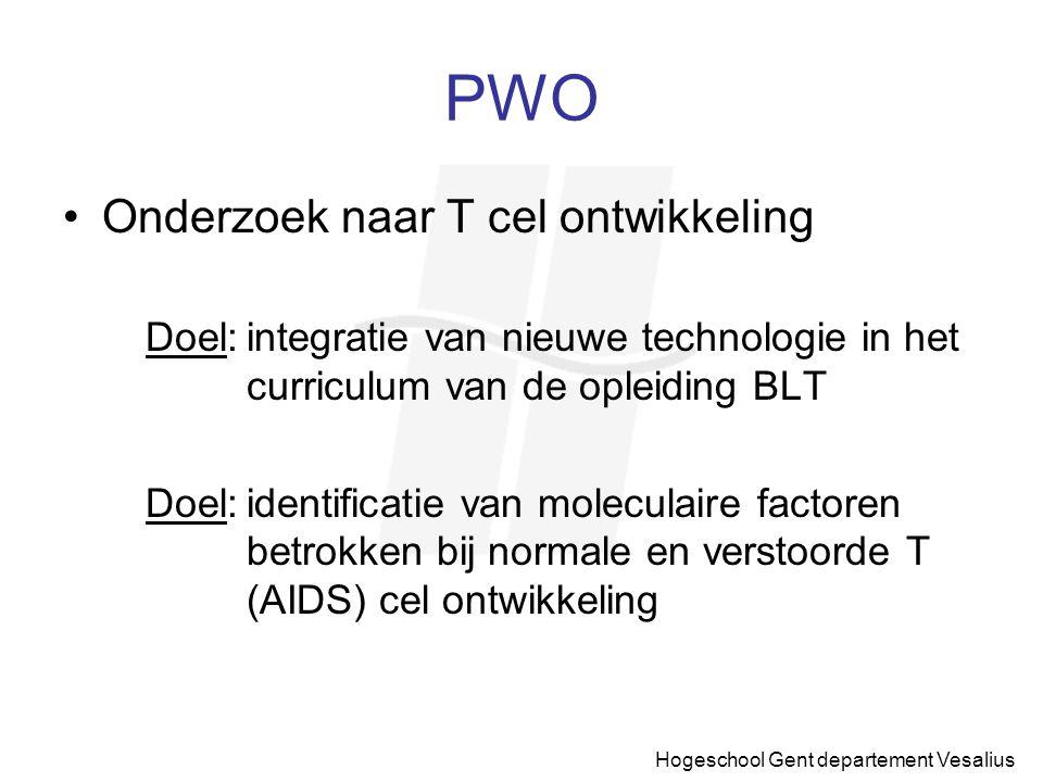 PWO Onderzoek naar T cel ontwikkeling
