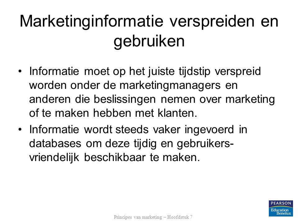 Marketinginformatie verspreiden en gebruiken