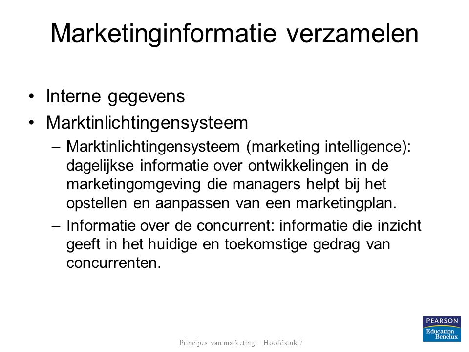 Marketinginformatie verzamelen
