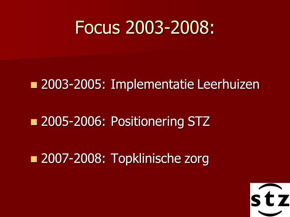 Focus 2003-2008: 2003-2005: Implementatie Leerhuizen