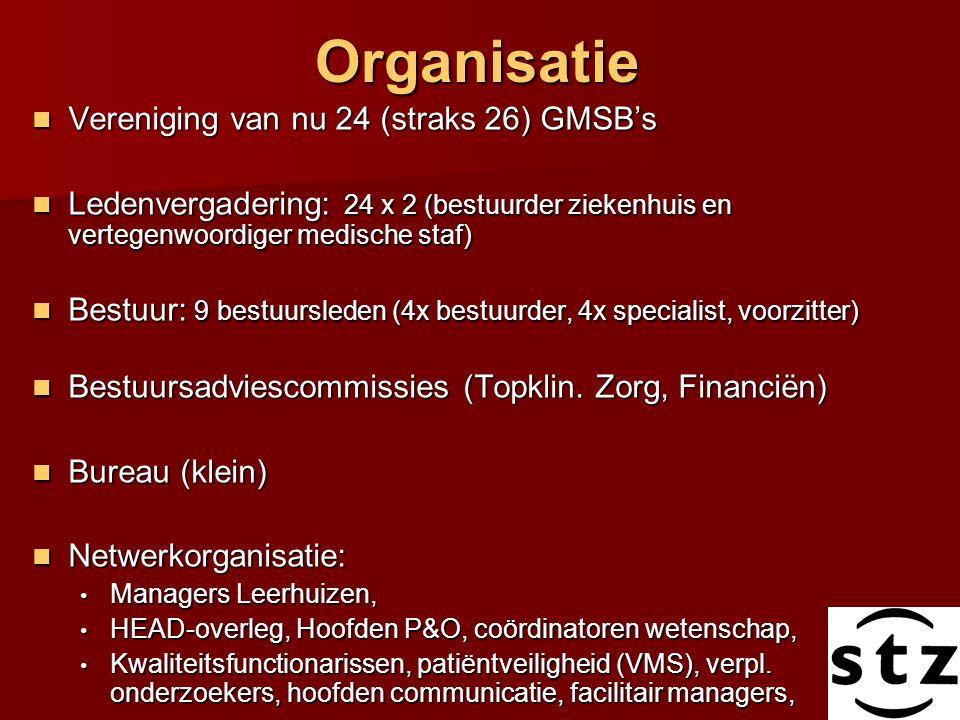 Organisatie Vereniging van nu 24 (straks 26) GMSB's