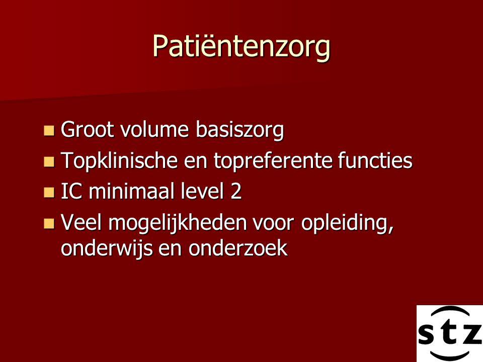 Patiëntenzorg Groot volume basiszorg