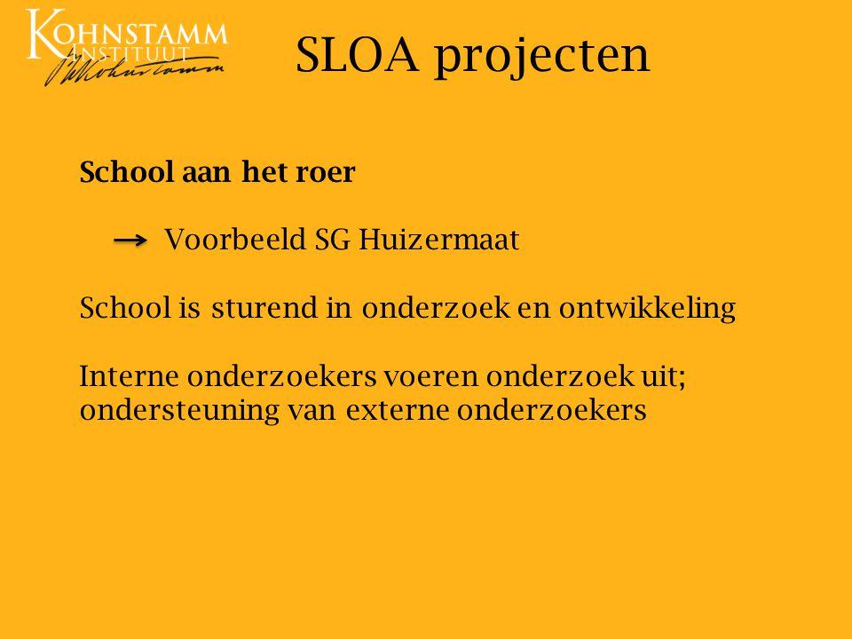 SLOA projecten School aan het roer Voorbeeld SG Huizermaat