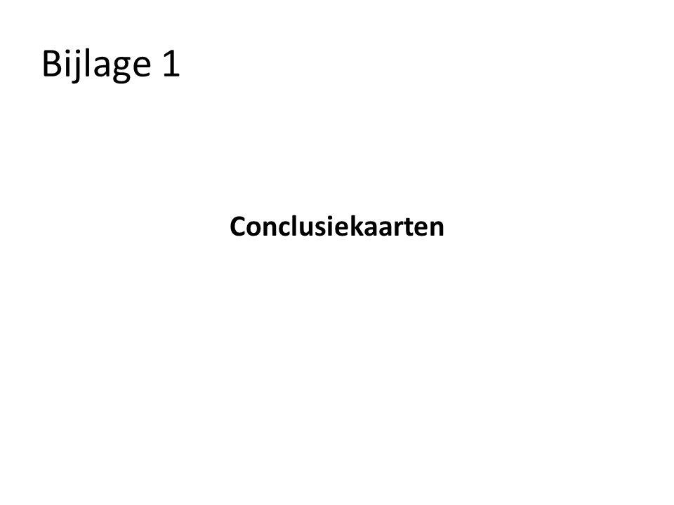 Bijlage 1 Conclusiekaarten