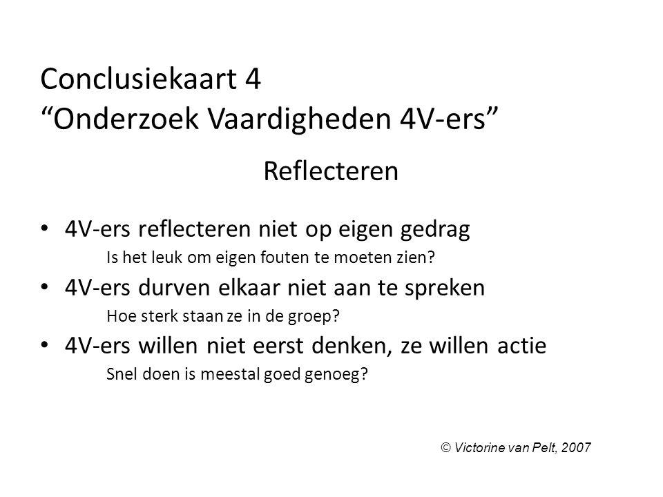 Conclusiekaart 4 Onderzoek Vaardigheden 4V-ers