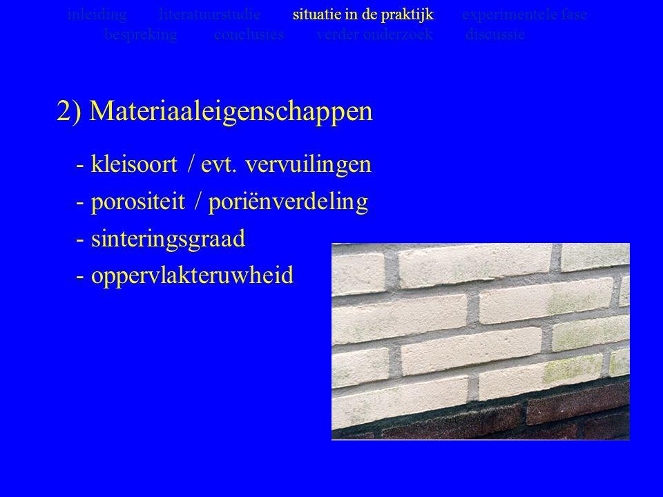2) Materiaaleigenschappen