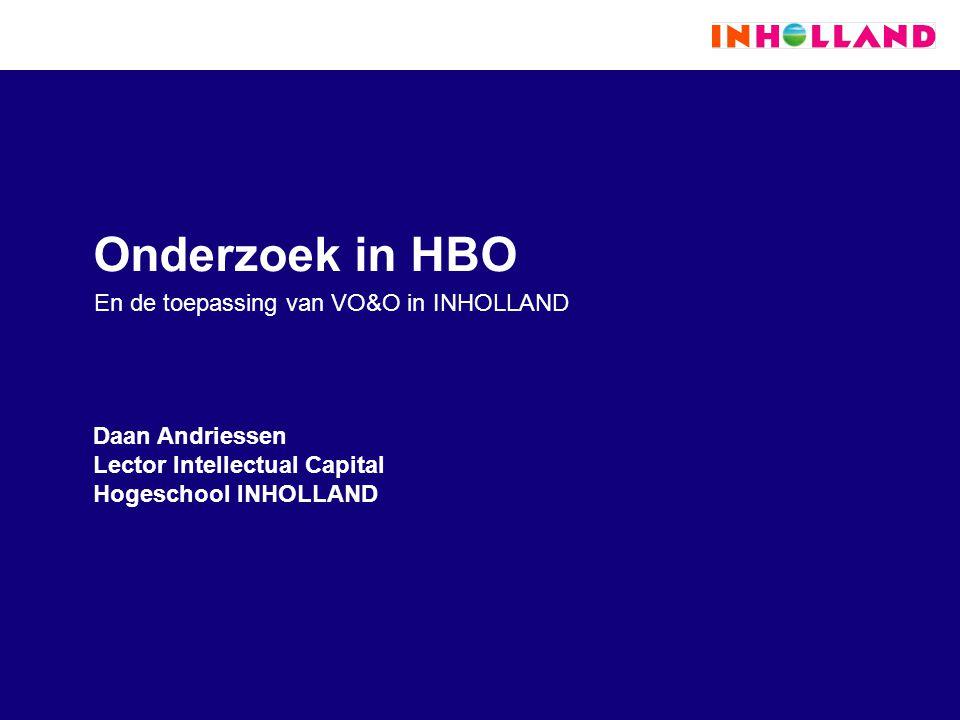 En de toepassing van VO&O in INHOLLAND