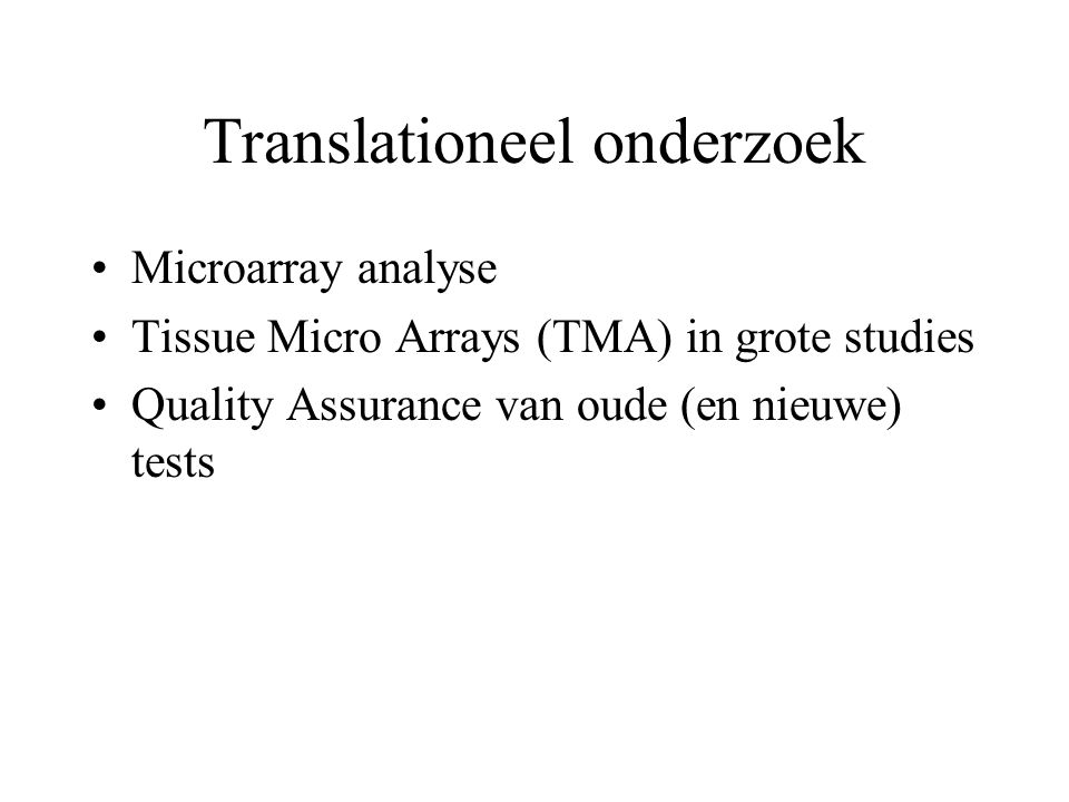 Translationeel onderzoek