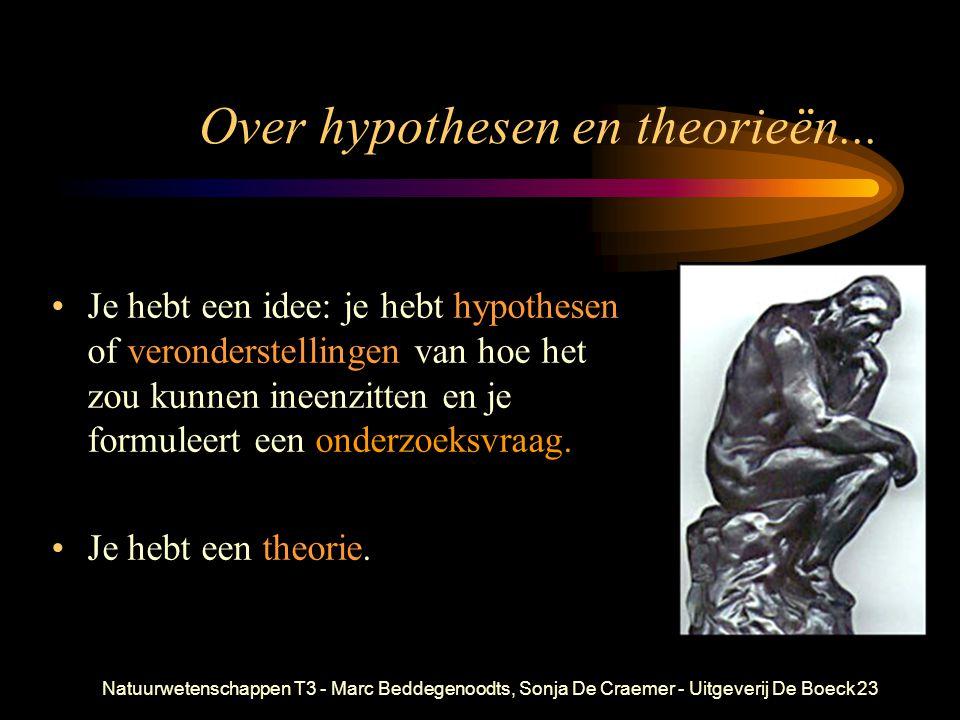 Over hypothesen en theorieën...
