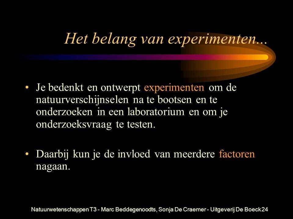 Het belang van experimenten...