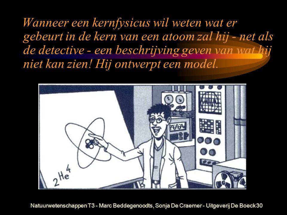 Wanneer een kernfysicus wil weten wat er gebeurt in de kern van een atoom zal hij - net als de detective - een beschrijving geven van wat hij niet kan zien! Hij ontwerpt een model.