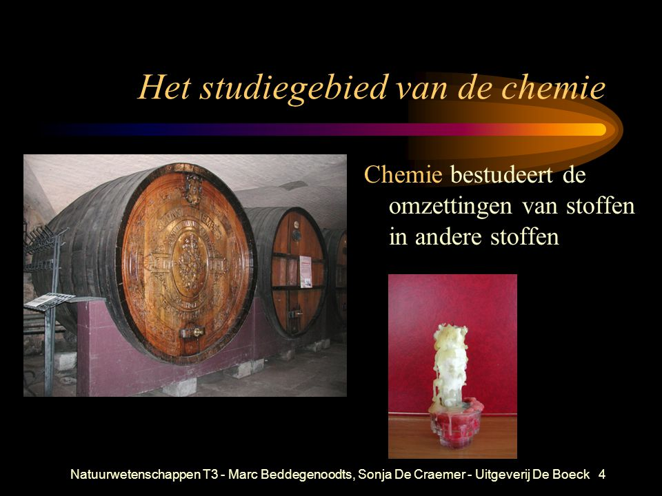 Het studiegebied van de chemie