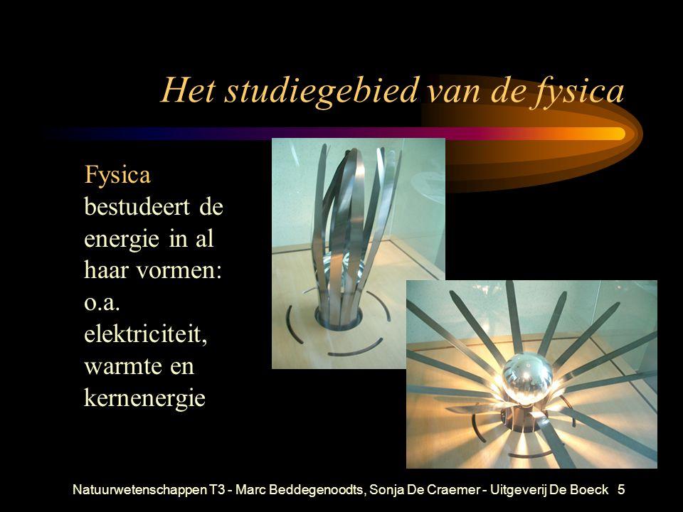 Het studiegebied van de fysica