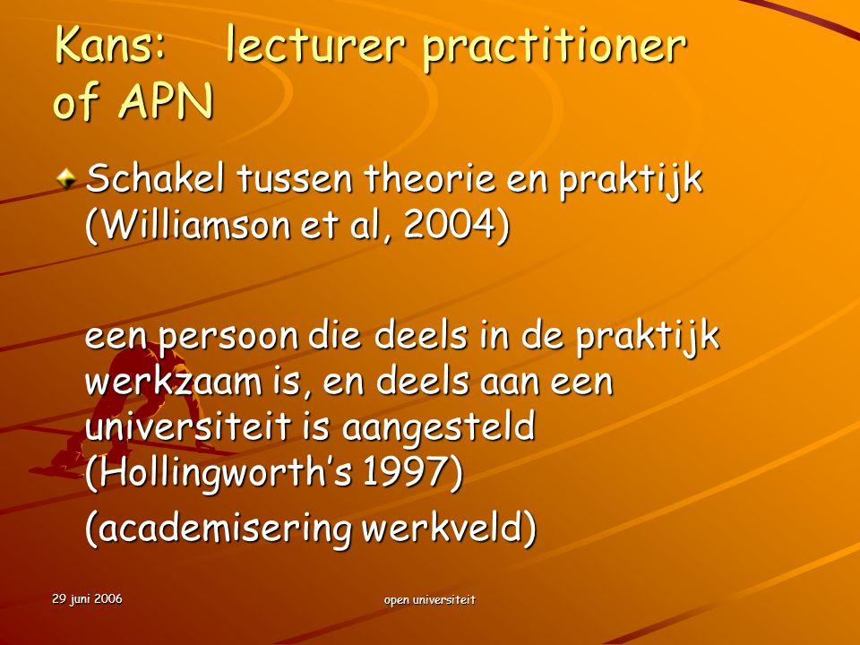 Kans: lecturer practitioner of APN