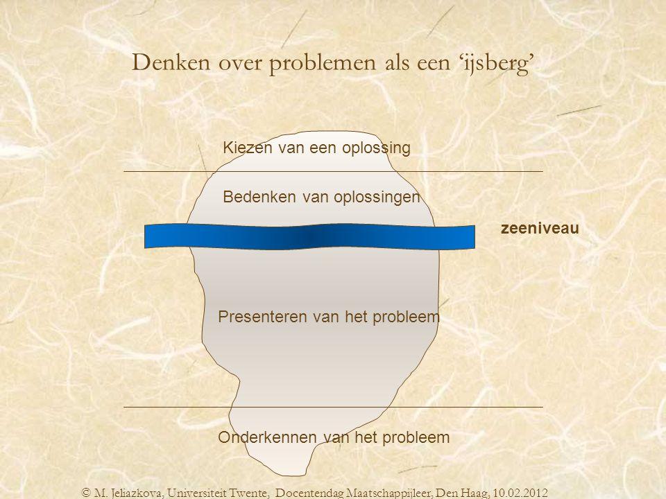 Denken over problemen als een 'ijsberg'