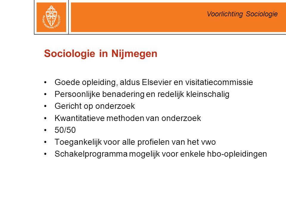 Sociologie in Nijmegen