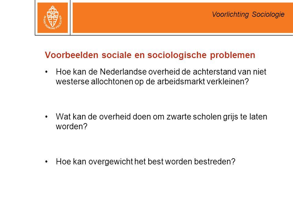Voorbeelden sociale en sociologische problemen