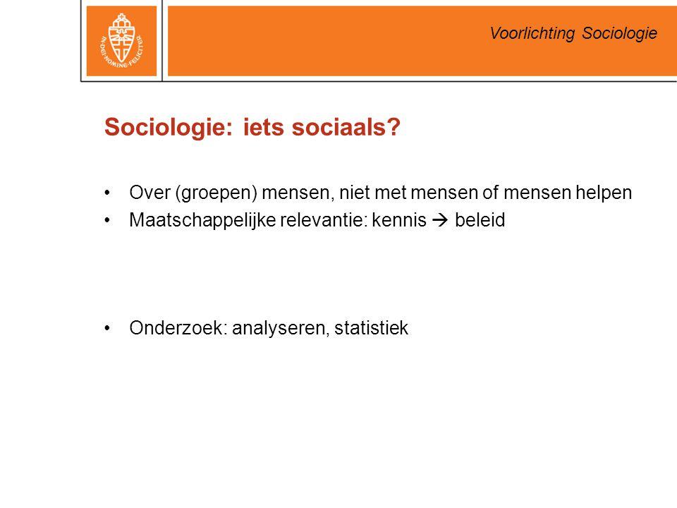 Sociologie: iets sociaals