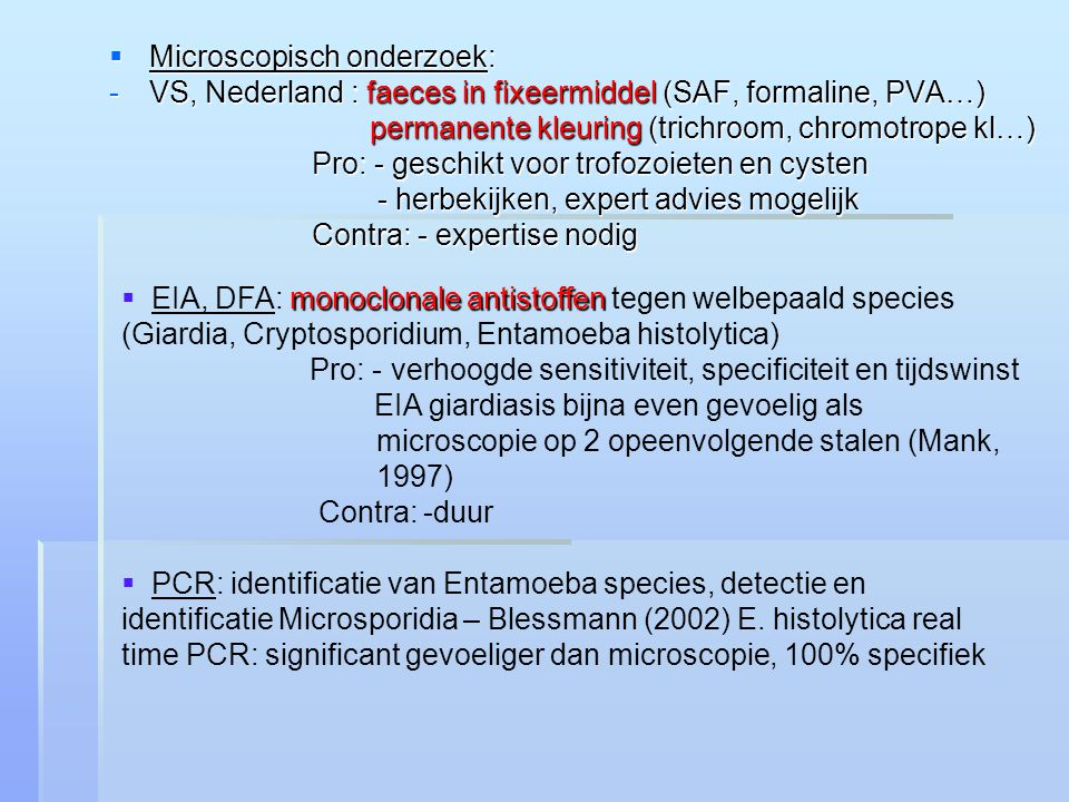 Microscopisch onderzoek:
