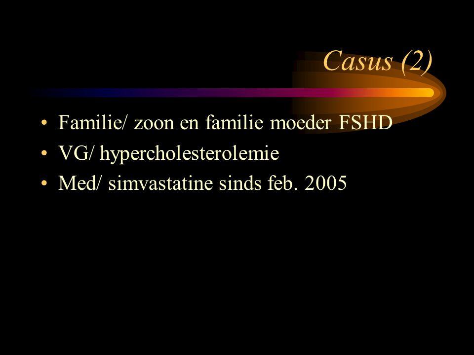 Casus (2) Familie/ zoon en familie moeder FSHD
