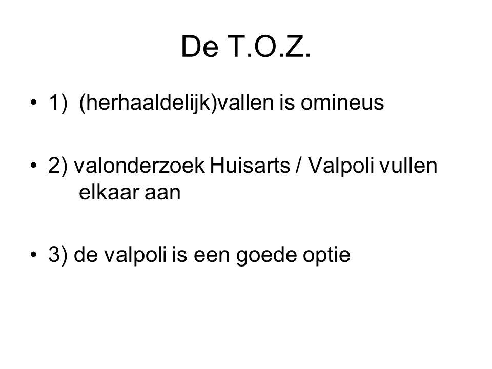 De T.O.Z. 1) (herhaaldelijk)vallen is omineus