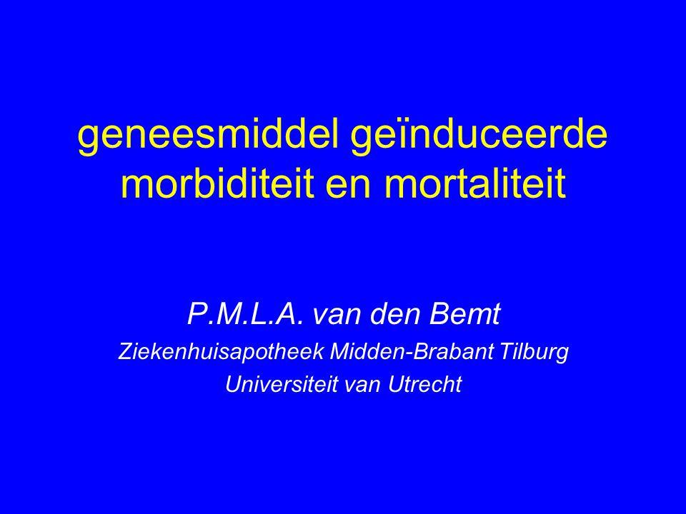 geneesmiddel geïnduceerde morbiditeit en mortaliteit