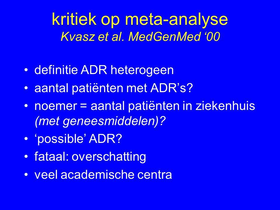 kritiek op meta-analyse Kvasz et al. MedGenMed '00