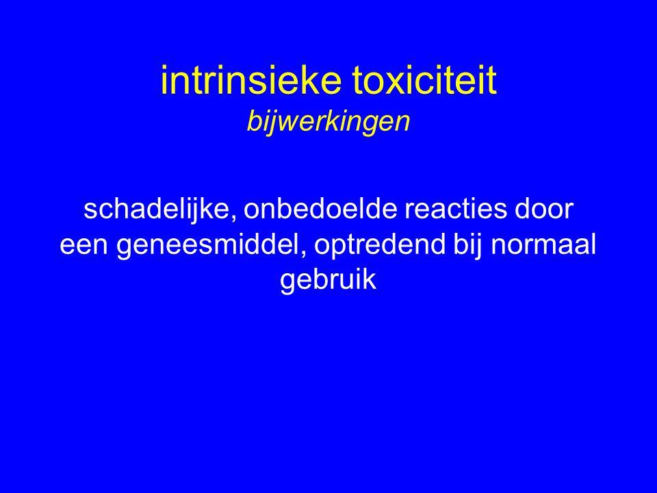 intrinsieke toxiciteit bijwerkingen