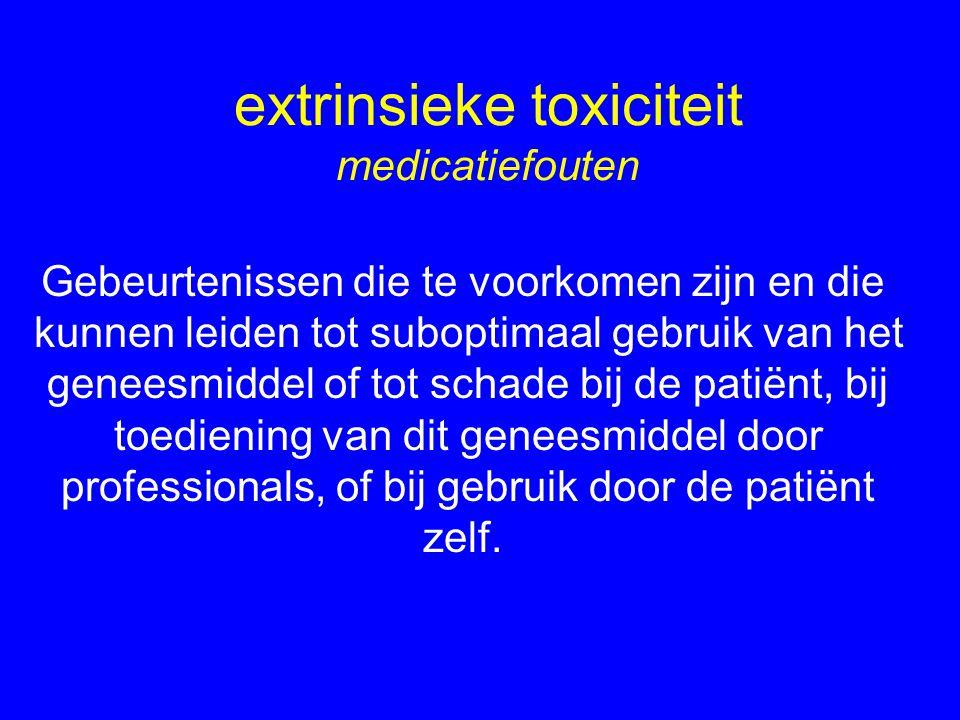 extrinsieke toxiciteit medicatiefouten