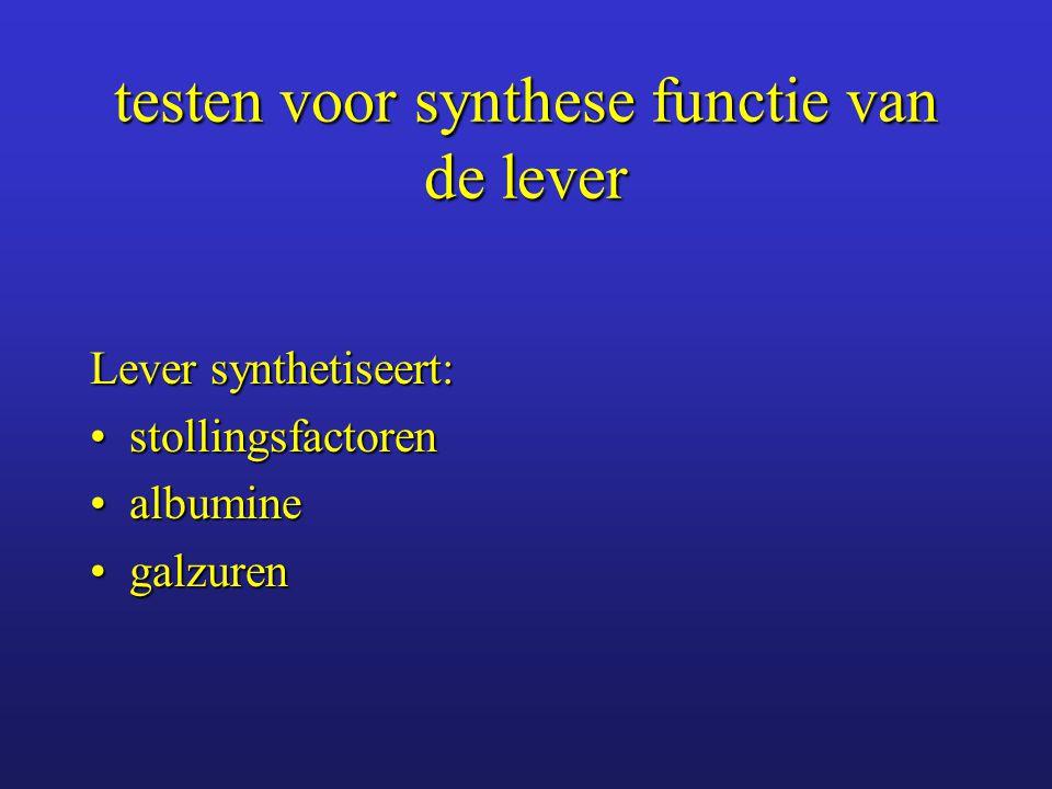 testen voor synthese functie van de lever