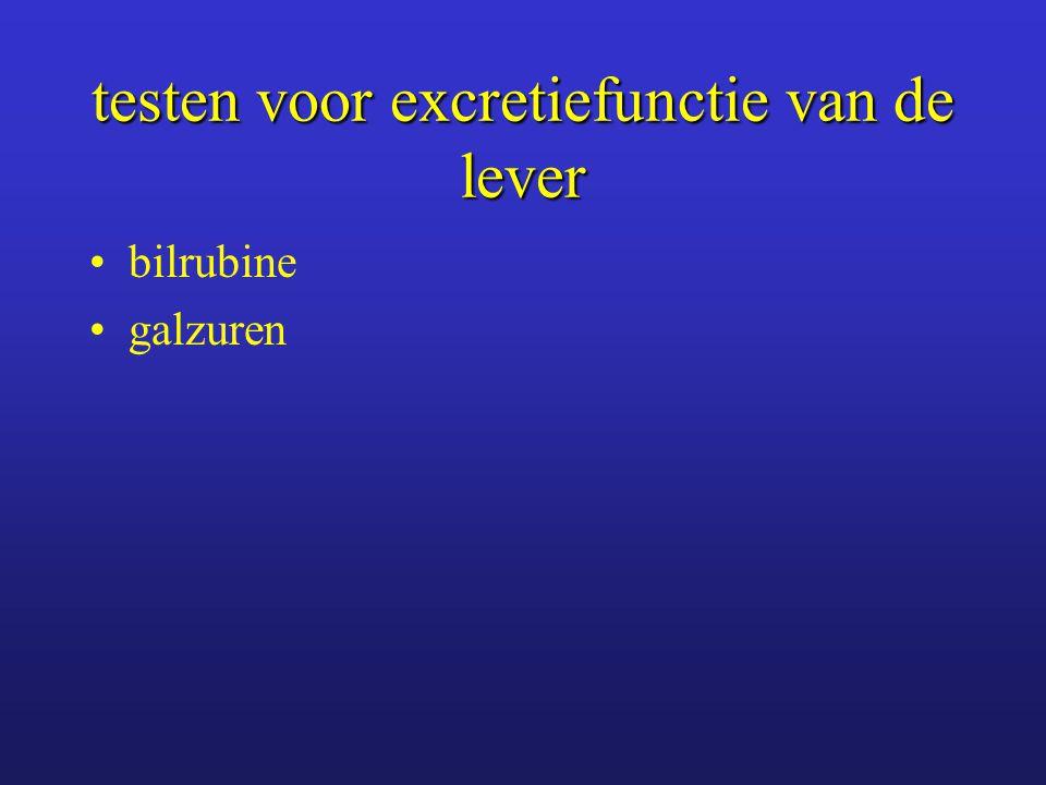 testen voor excretiefunctie van de lever