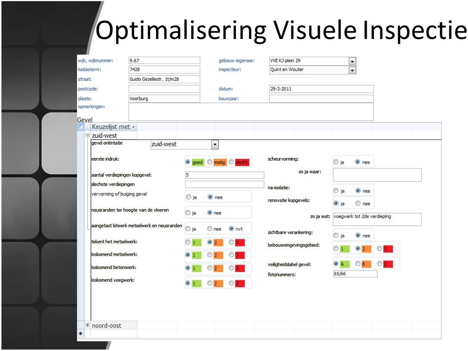 Optimalisering Visuele Inspectie