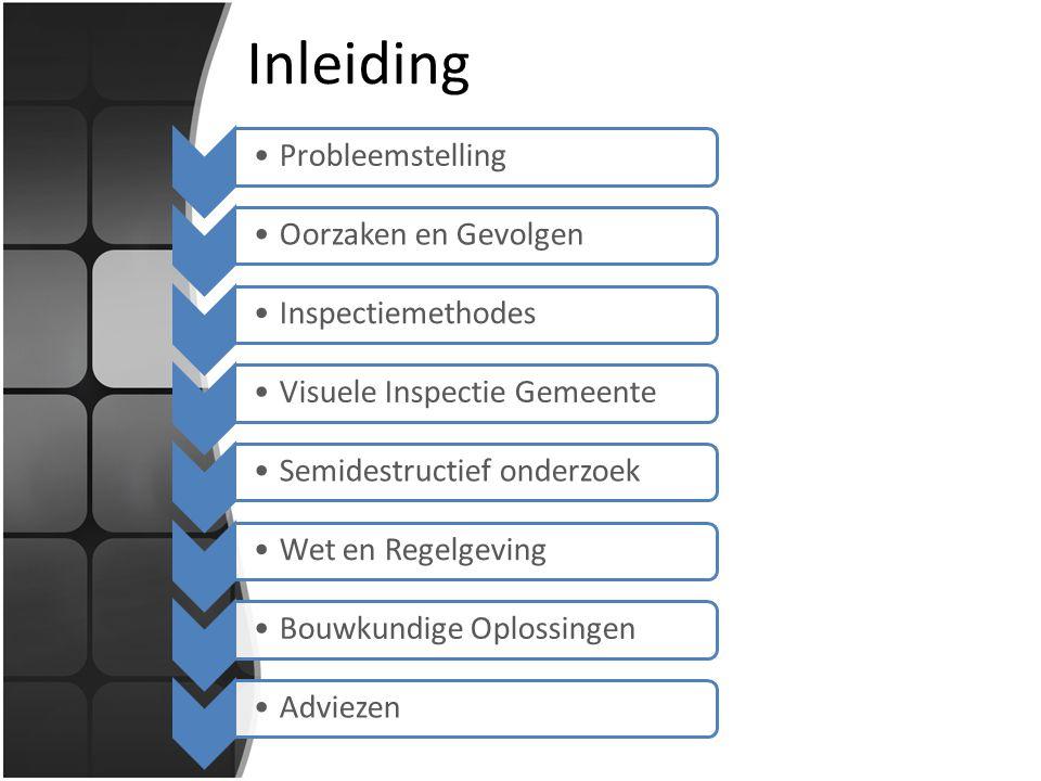 Inleiding Probleemstelling Oorzaken en Gevolgen Inspectiemethodes