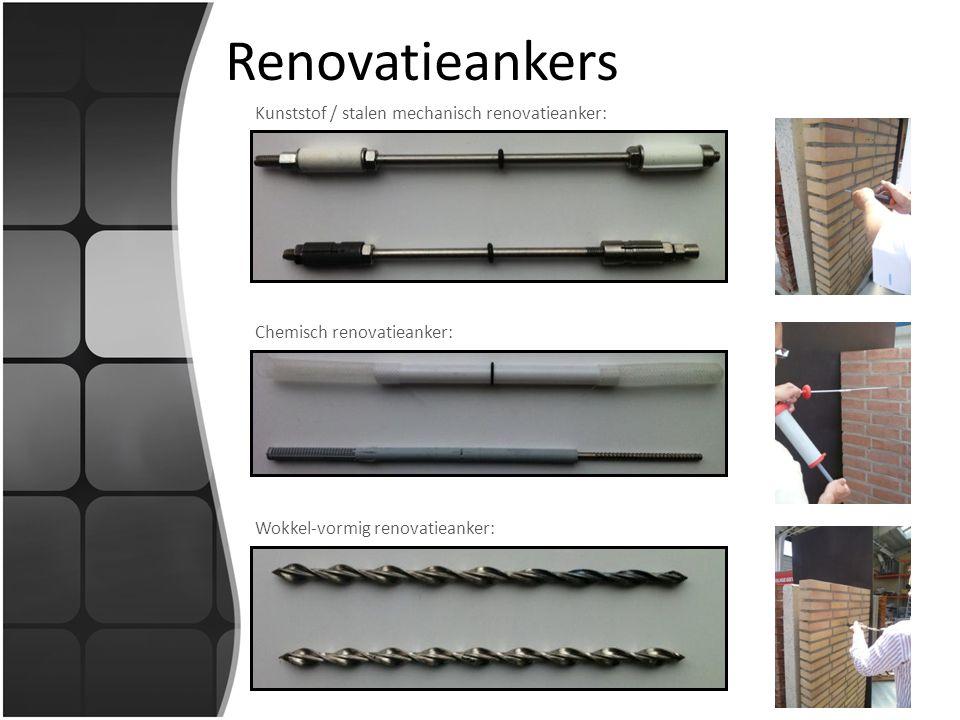 Renovatieankers Kunststof / stalen mechanisch renovatieanker: