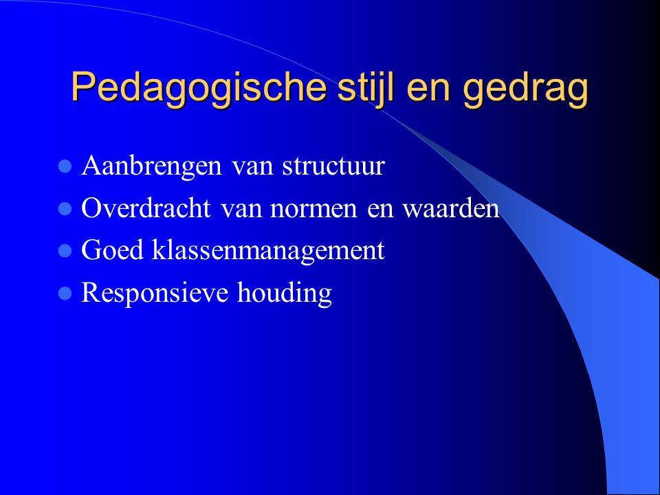 Pedagogische stijl en gedrag