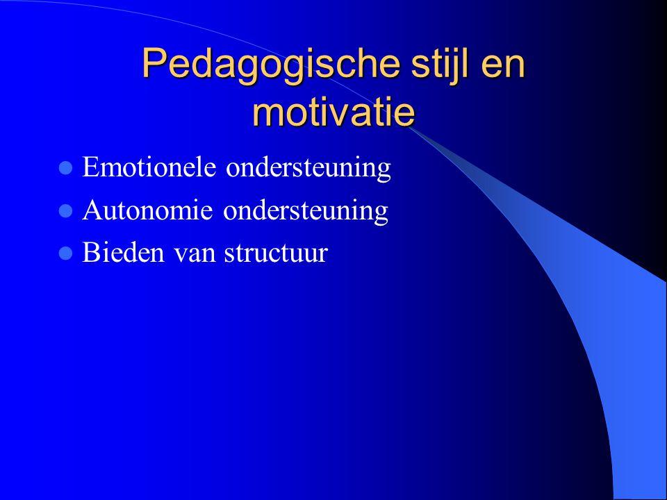 Pedagogische stijl en motivatie