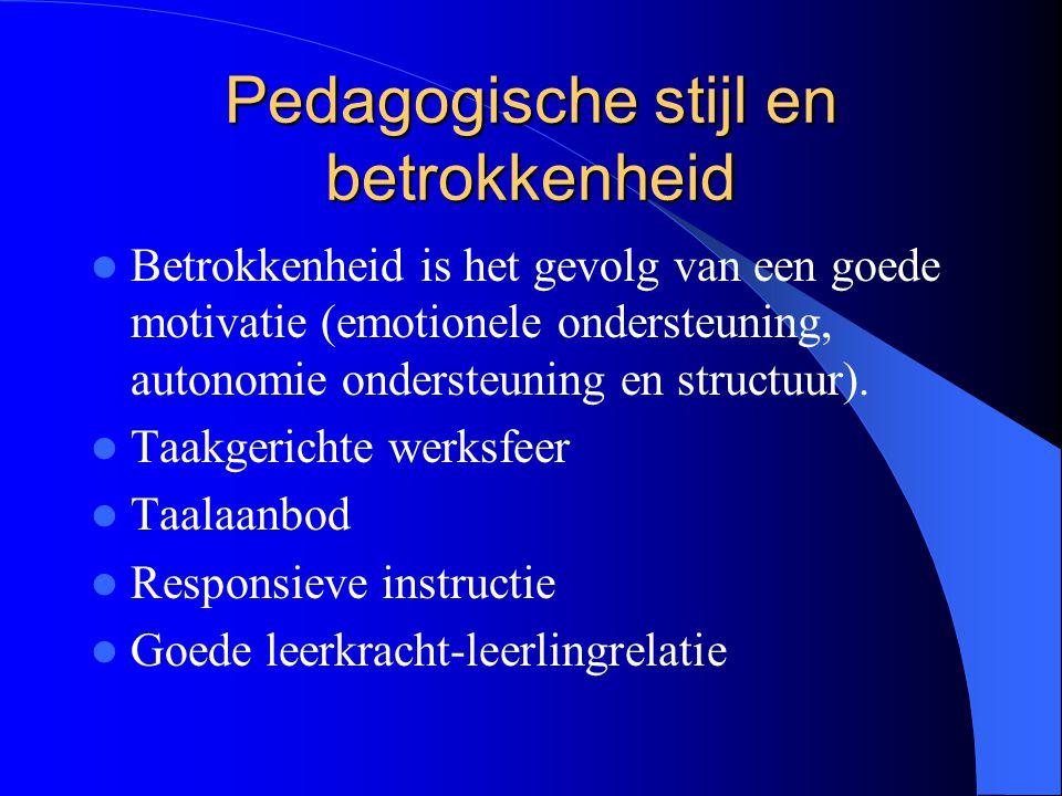 Pedagogische stijl en betrokkenheid
