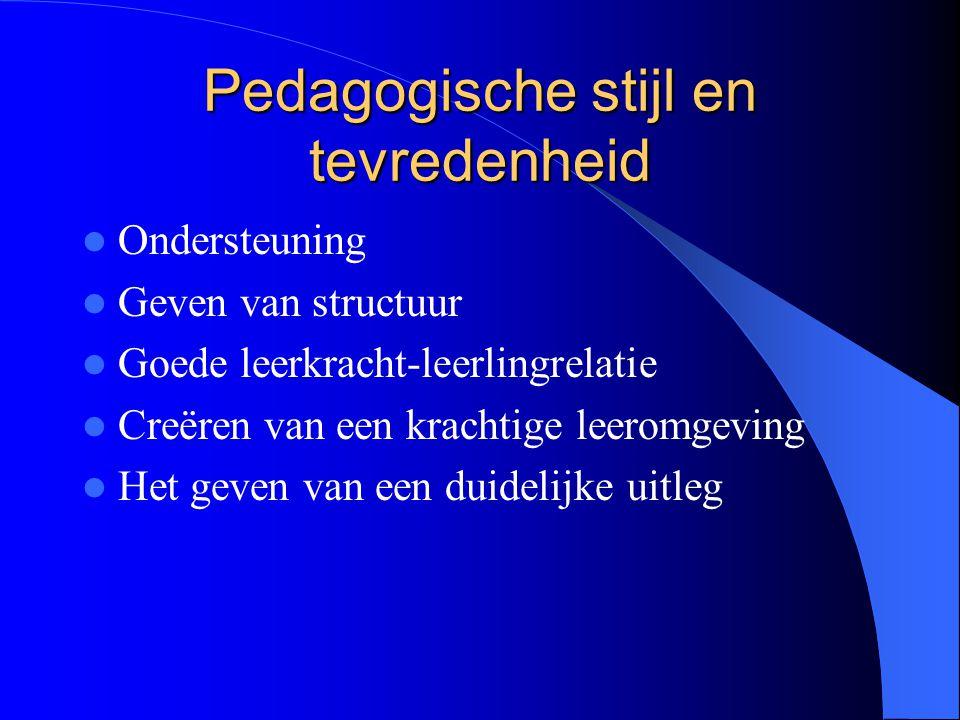 Pedagogische stijl en tevredenheid