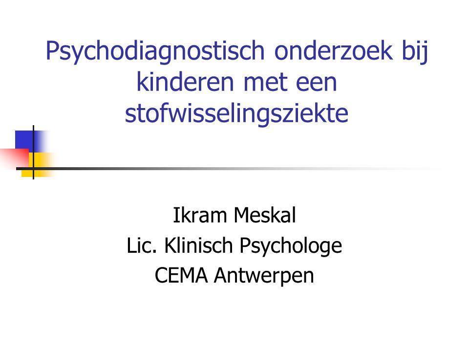 Psychodiagnostisch onderzoek bij kinderen met een stofwisselingsziekte