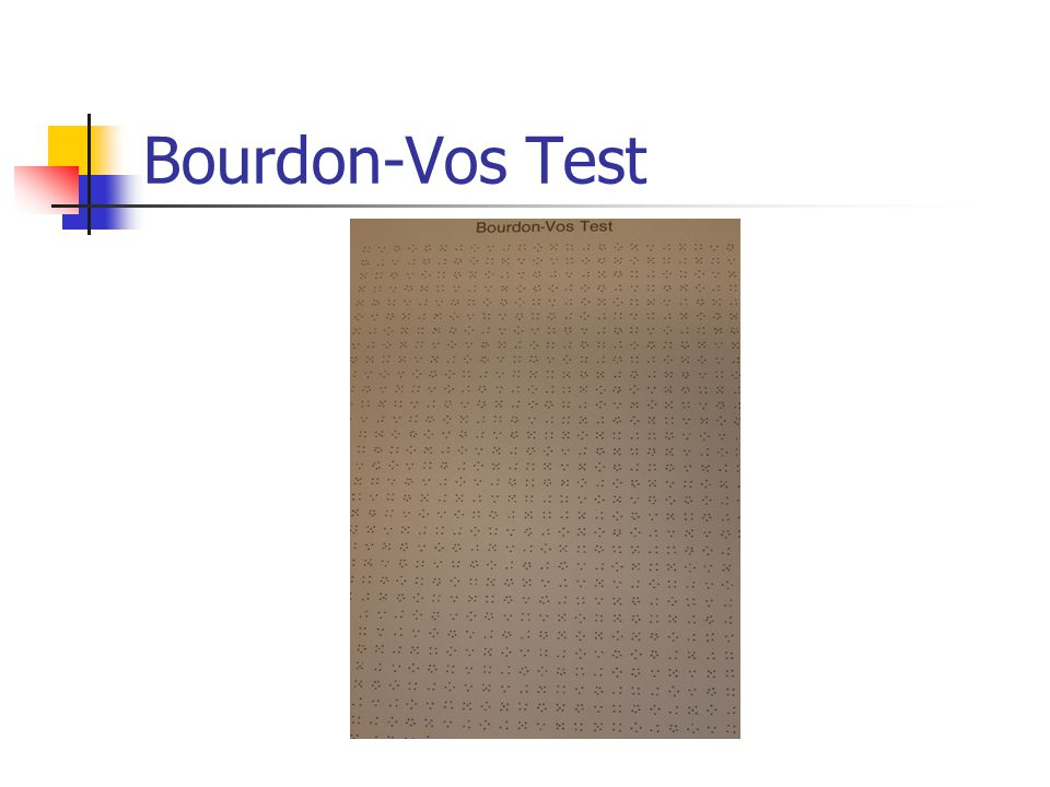 Bourdon-Vos Test Selectieve en volgehouden aandacht