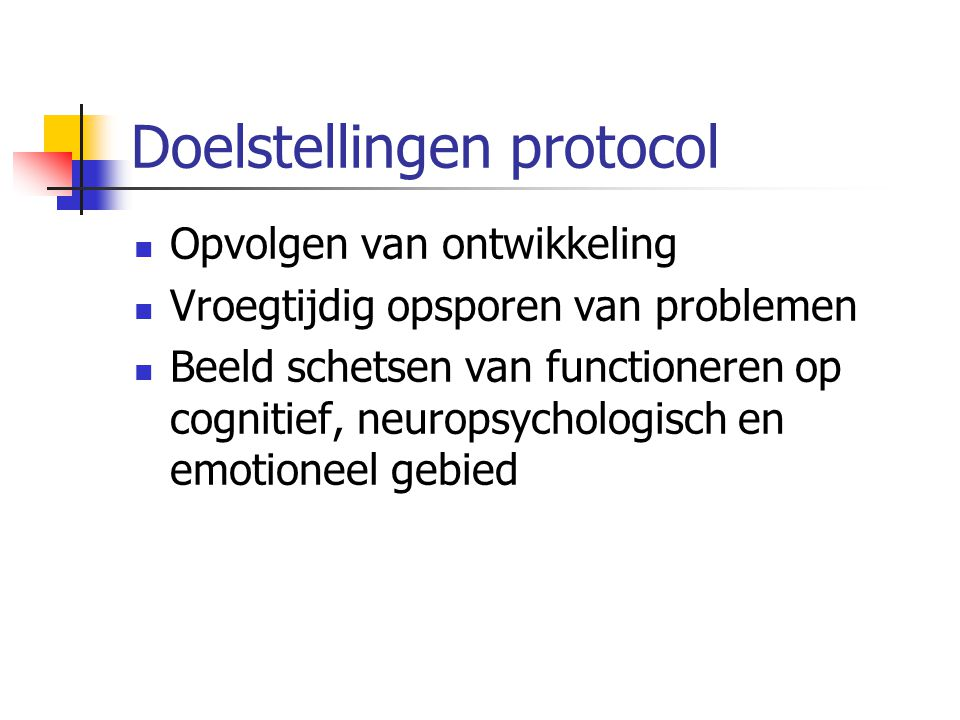 Doelstellingen protocol